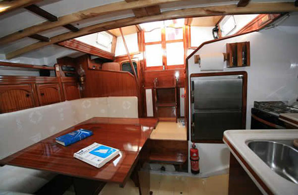 boat with private cabin